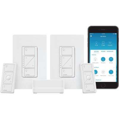 Caseta Wireless Smart Lighting Dimmer Switch (2 Count) Starter Kit