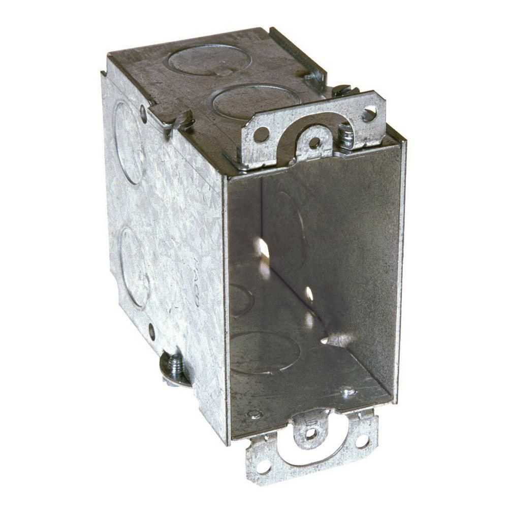 3 in. x 2 in. Gangable Switch Electrical Box, Plaster Ears