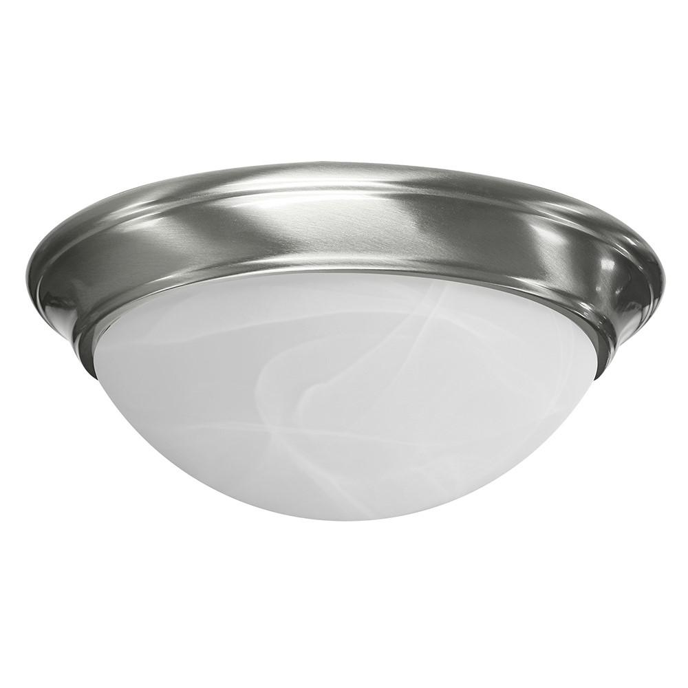16-Watt Stain Nickel Integrated LED Ceiling Flushmount