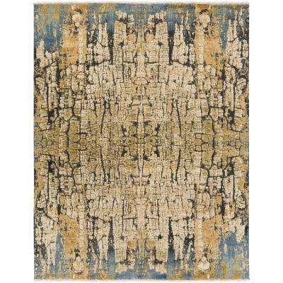 Vilhelm Blue/Gold 8 ft. x 10 ft. Area Rug