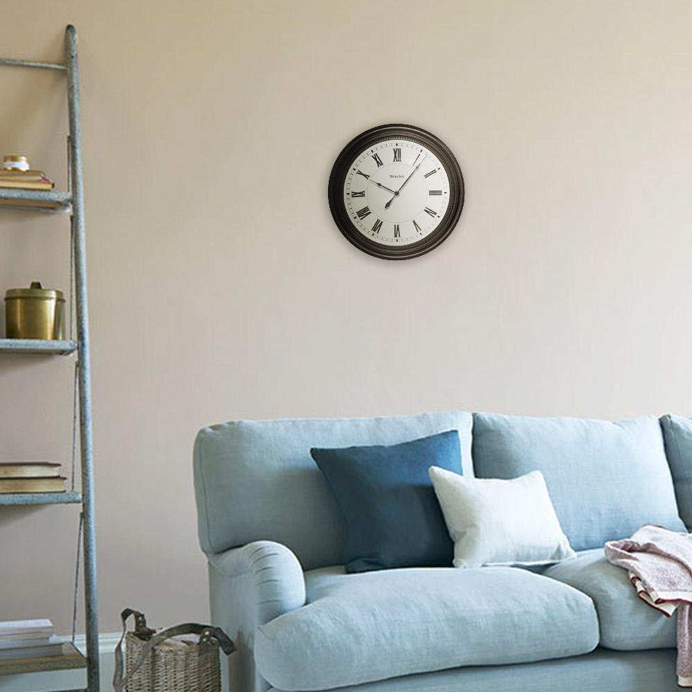 Westclox 16 In Round Roman Numeral Wall Clock 32223 The