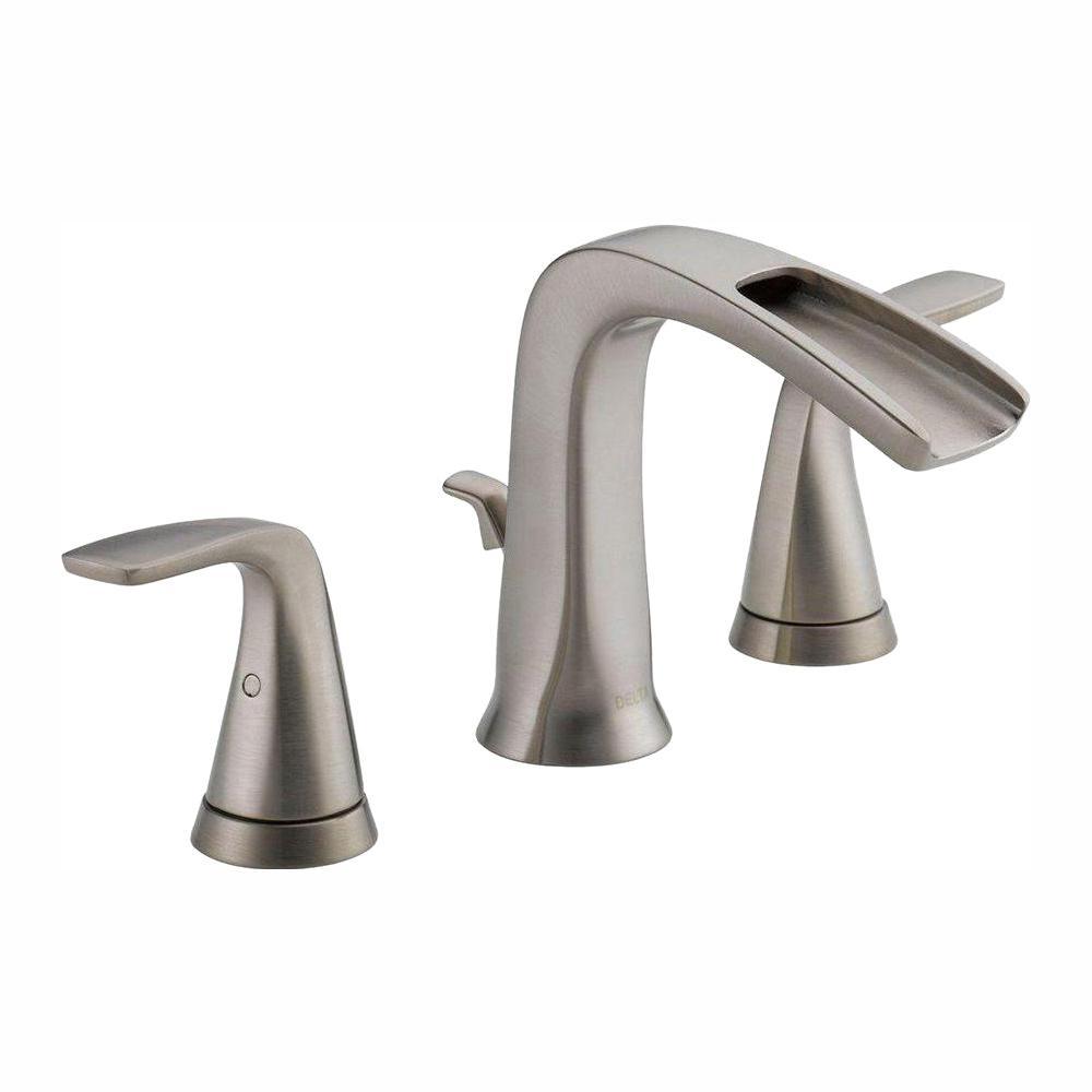Delta Tolva 8 in. Widespread 2-Handle Bathroom Faucet in Brushed Nickel