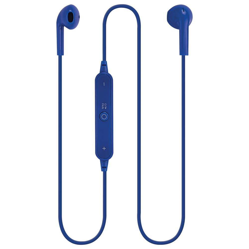 ILive Bluetooth Wireless Earbuds With In Line Volume Controls Blue