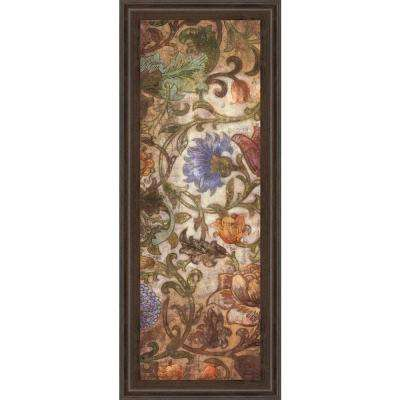 """18 in. x 42 in. """"Floral Sonata I"""" by O'Flannery Framed Printed Wall Art"""