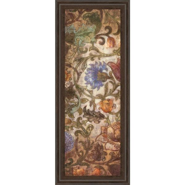 """Classy Art 18 in. x 42 in. """"Floral Sonata I"""" by O'Flannery Framed Printed Wall Art"""