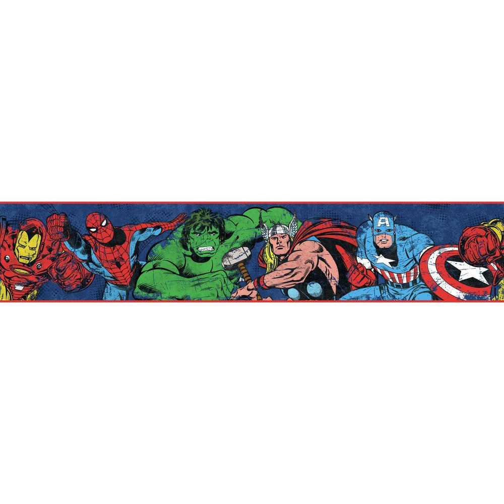 York Wallcoverings Disney Kids III Marvel Avengers Border DY0240BD ...