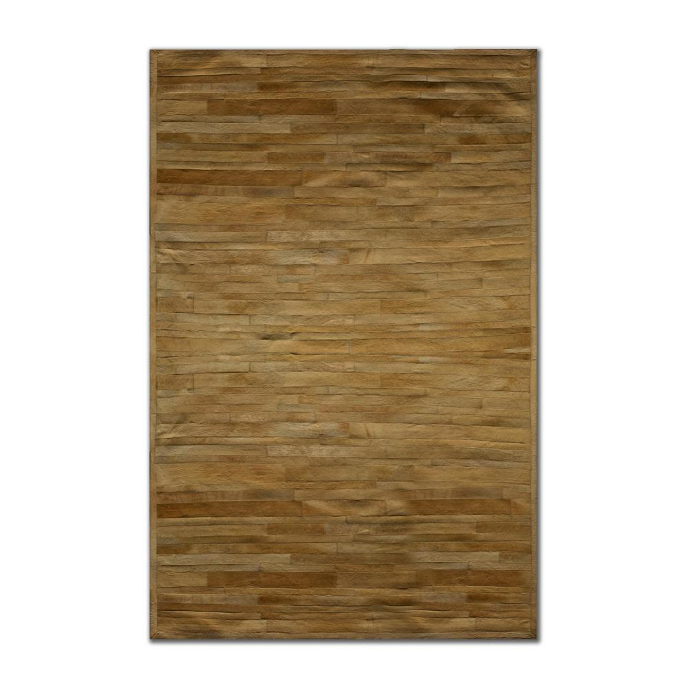 Linear Tan 8 Ft X 10 Cowhide Rug
