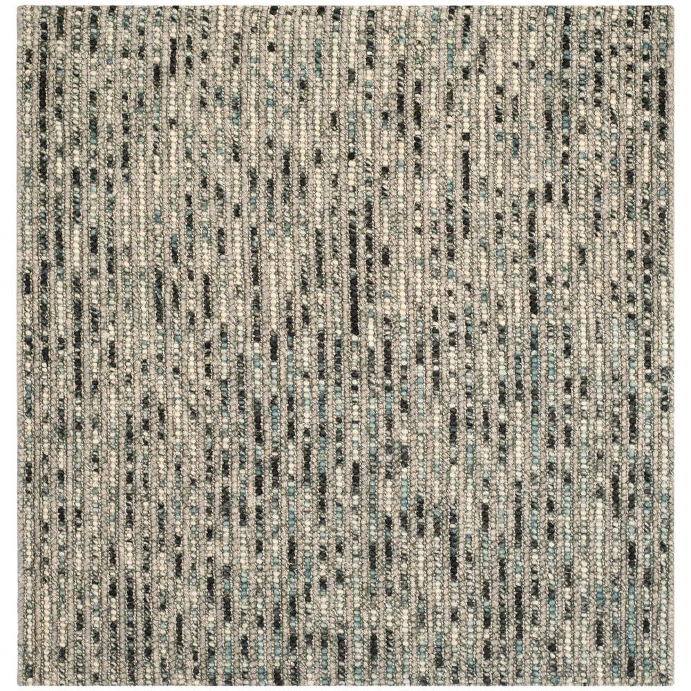 Bohemian Grey/Multi 6 ft. x 6 ft. Square Area Rug