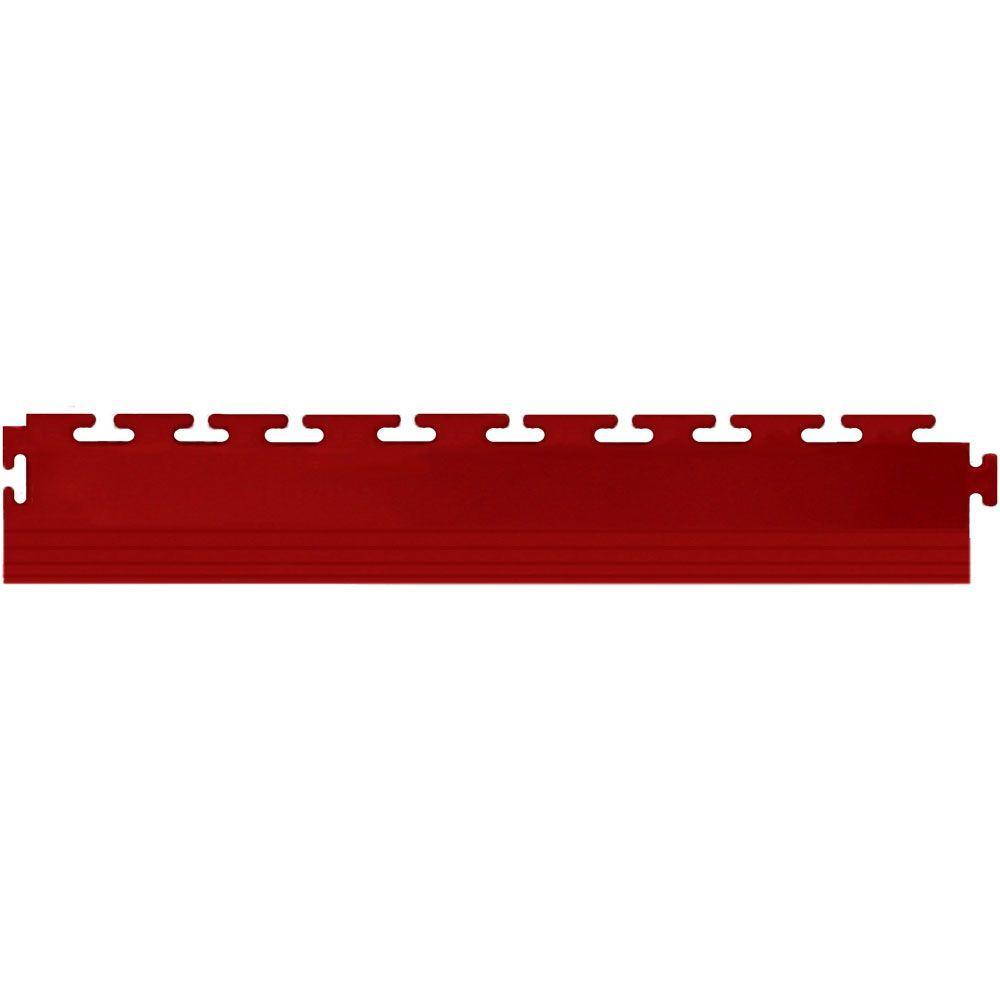 IT-tile 20-1/2 in. x 2-1/2 in. Coin Terracotta PVC Tapered Interlocking Multi-Purpose Flooring Tile Edges (4-Pack)