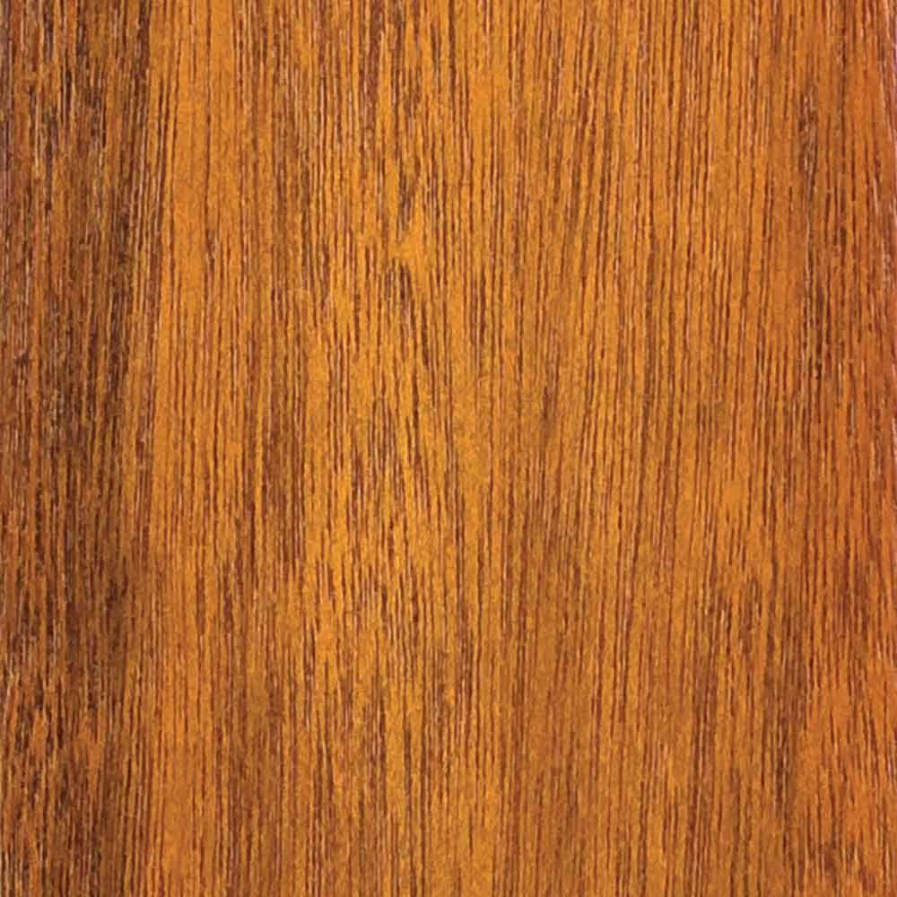 4 in. x 3 in. Wood Garage Door Sample in Meranti with Cedar 077 Stain