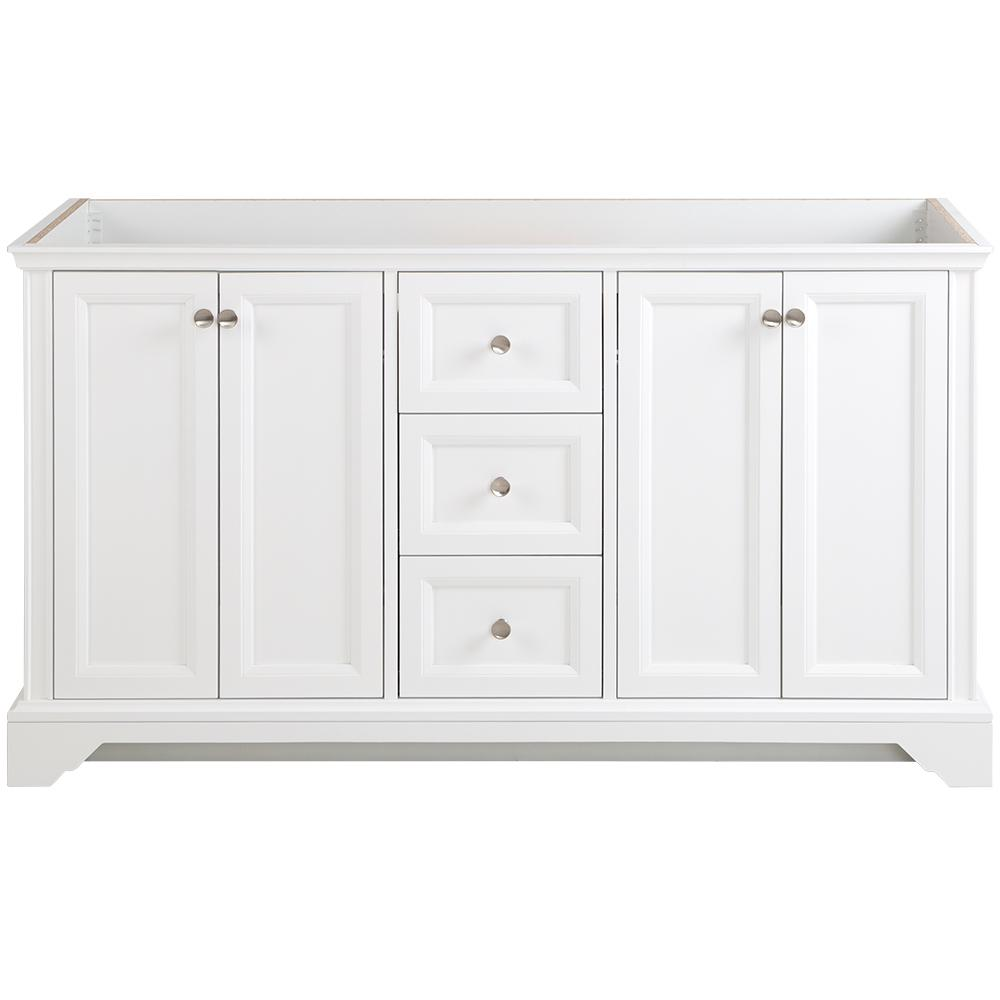 Home Decorators Collection Stratfield 60 in. W x 21.69 in. D x 34.25 in. H Bath Vanity Cabinet Only in White