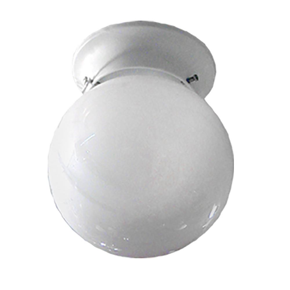 1-Light White Flushmount