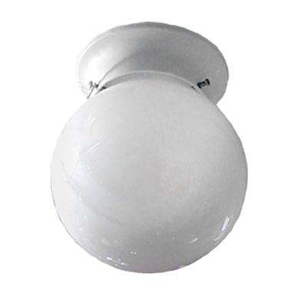 1-Light White Flushmount