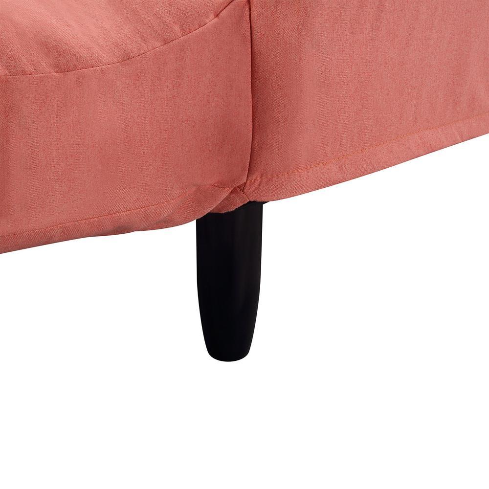 Super Harper Bright Designs Orange Chic Loveseat Sleeper Sofa Pabps2019 Chair Design Images Pabps2019Com
