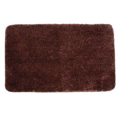 33 in. x 20 in. Polyester Bath Mat in Chocolate