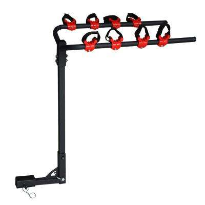 4-Bike Universal Hitch Mount Bike Carrier with Integrated Stable Cradles