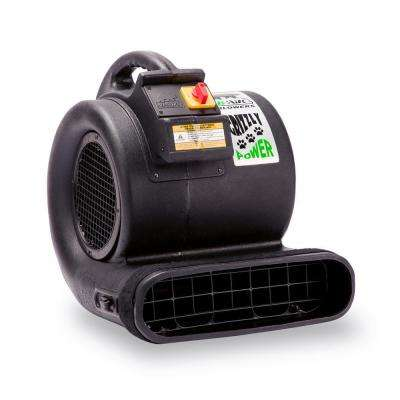 1 HP Air Mover for Water Damage Restoration Carpet Dryer Floor Blower Fan, Black