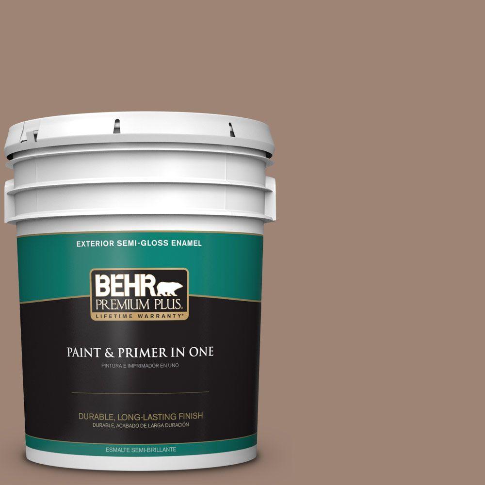5-gal. #760B-5 Blanket Brown Semi-Gloss Enamel Exterior Paint