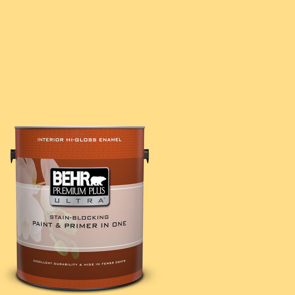 1 gal. #330B-5 Yellow Corn Hi-Gloss Enamel Interior Paint
