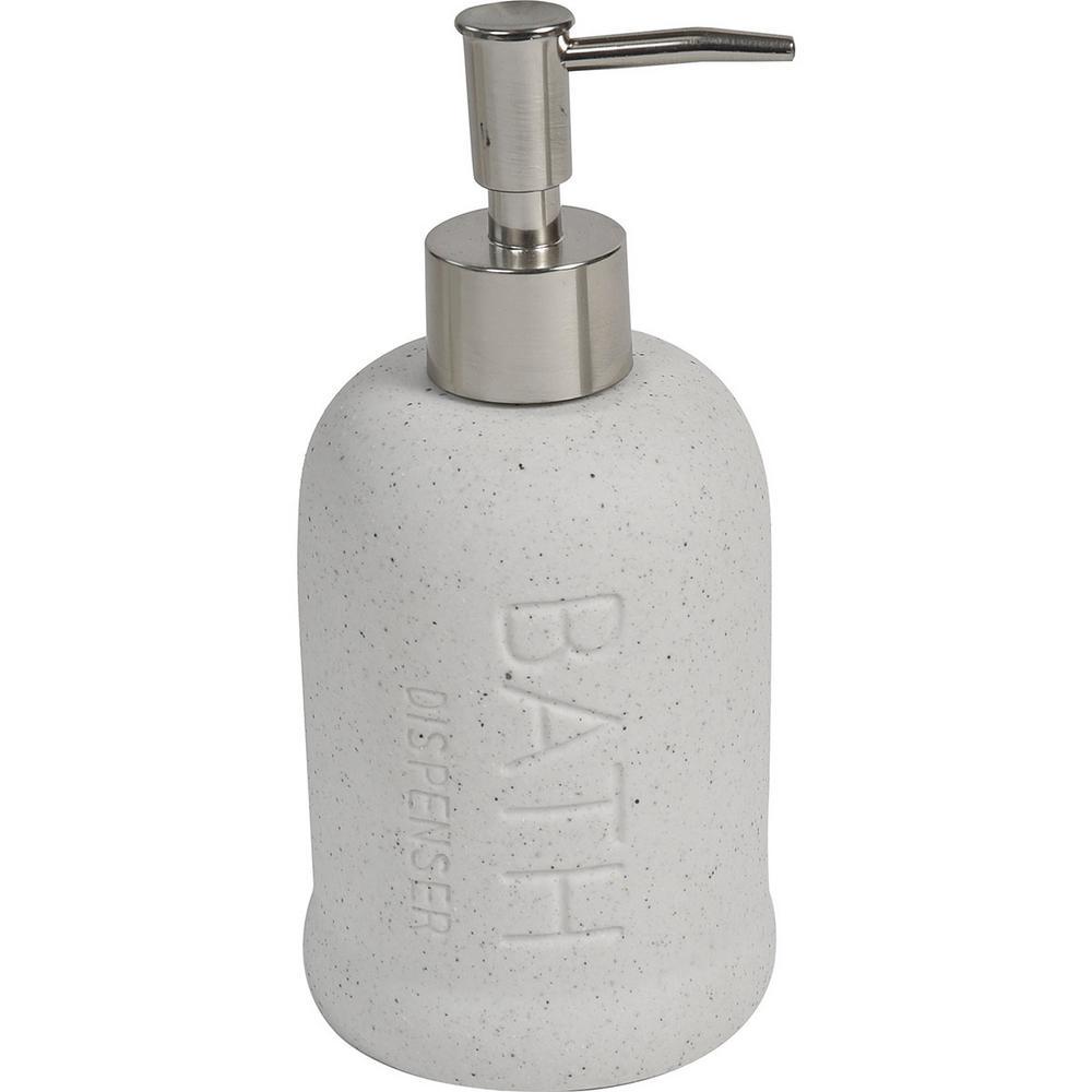 Stoneware Bath Soap Dispenser BATH Sand Stone Effect ecru