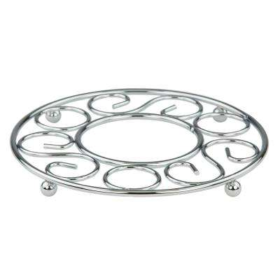 8 in. x 8 in. x 0.62 in. Trivet in Chrome