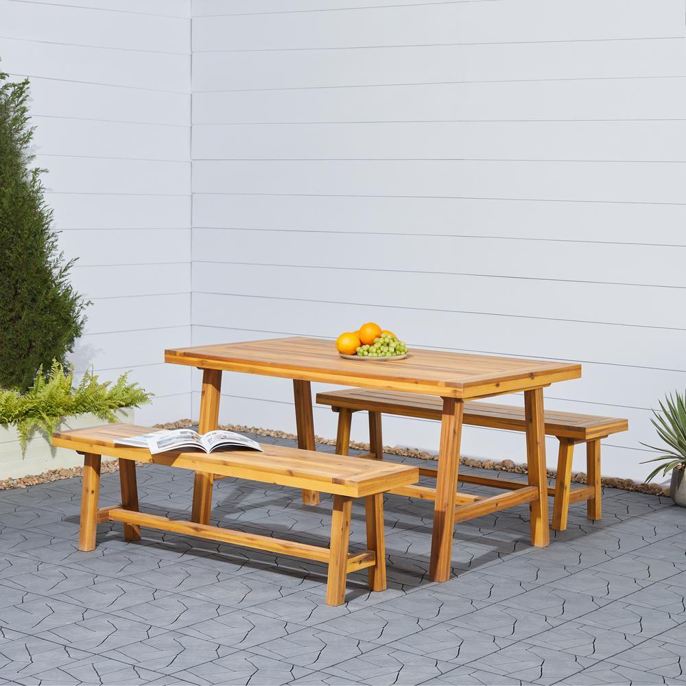 Vifah Patio Furniture.6 7 Person Standard Dining Height Vifah Patio Dining Furniture