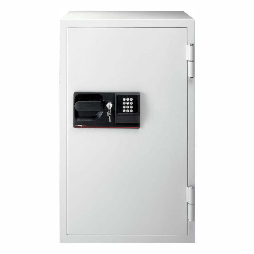 SentrySafe 4.6 cu. ft. Steel Commercial Fire-Safe with Electronic Lock and Key in Gray