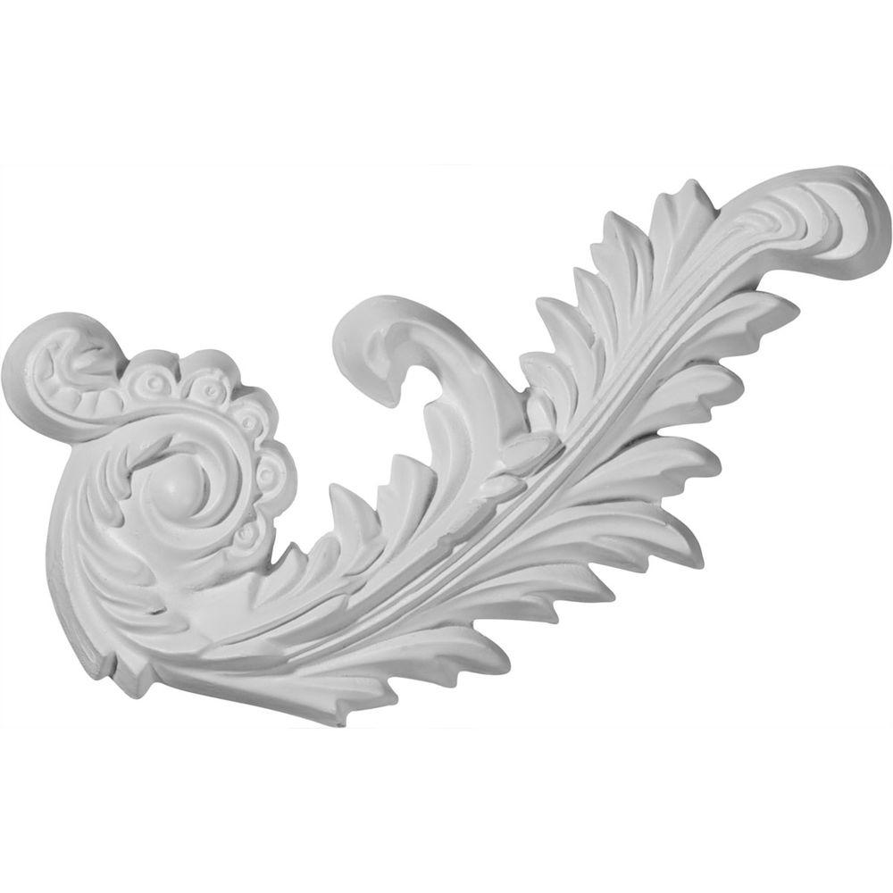 3/4 in. x 7-7/8 in. x 4-1/8 in. Polyurethane Medway Scroll