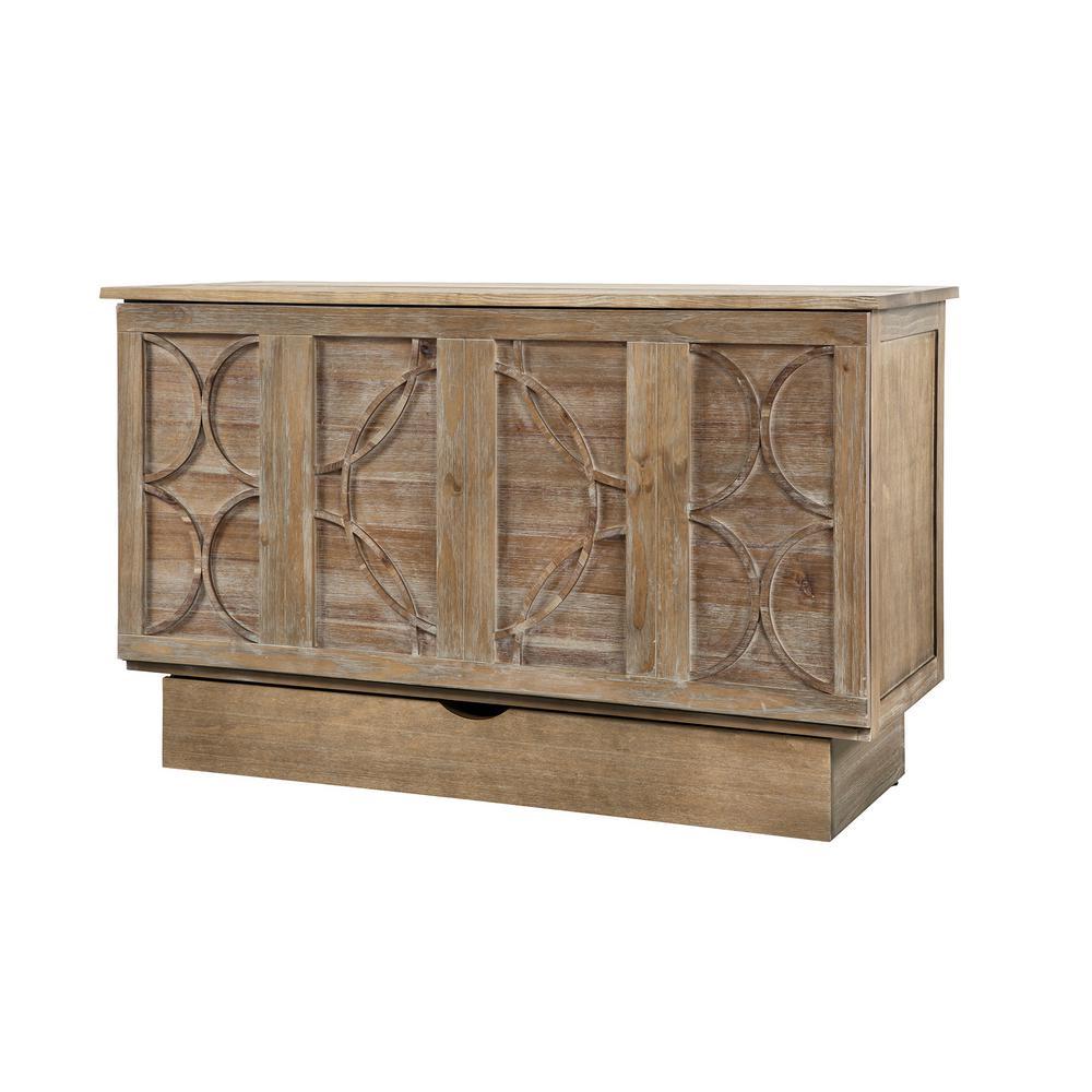 Creden Zzz Ash Grey Queen Size Cabinet Bed