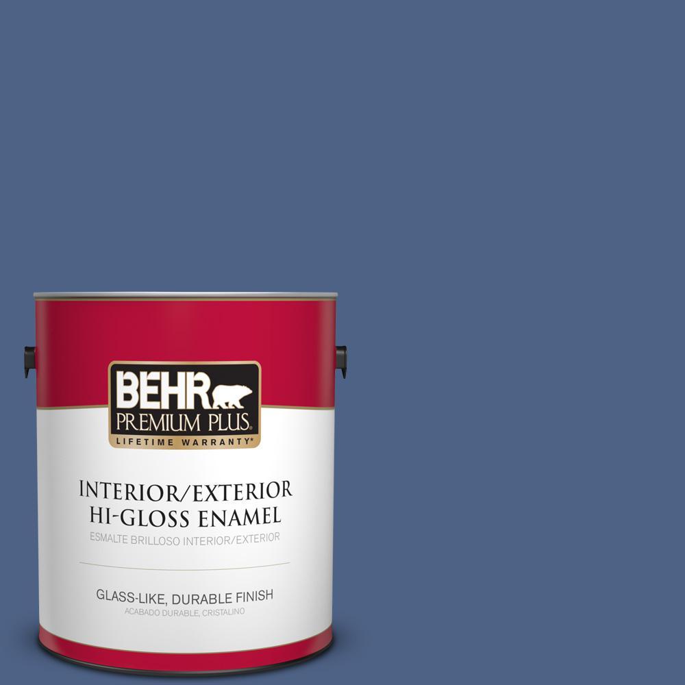 1 gal. #PPU15-04 Mosaic Blue Hi-Gloss Enamel Interior/Exterior Paint