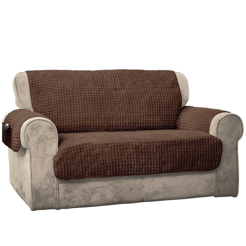 Innovative Textile Solutions Chocolate Puff Sofa Furniture Protector 9050SOFACHOCO