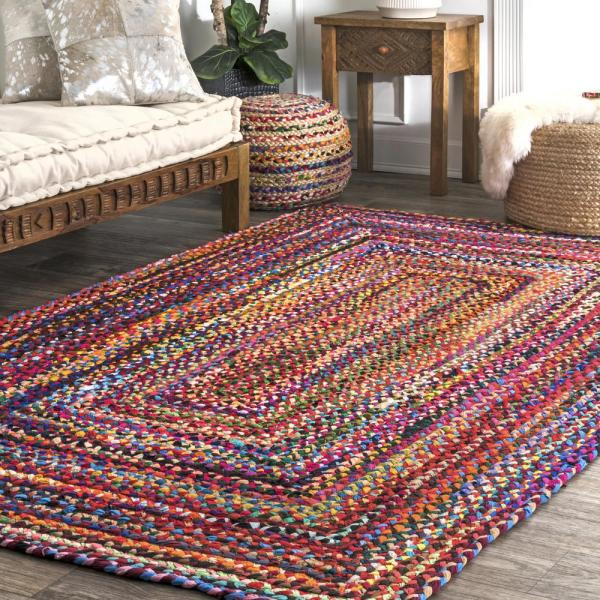 Nuloom Tammara Colorful Braided Multi 6