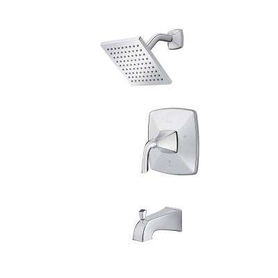 Bronson 1-Handle Tub and Shower Faucet Trim Kit in Polished Chrome (Valve Not Included)