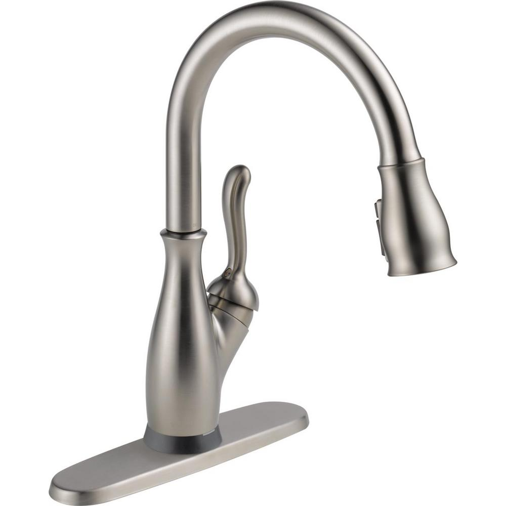 Leland Single-Handle Pull-Down Sprayer Kitchen Faucet with Touch2O and ShieldSpray Technology in SpotShield Stainless