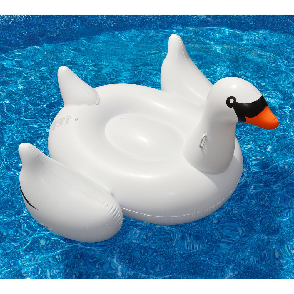 Swimline Giant Swan 75 in. Inflatable Ride-On Pool Toy