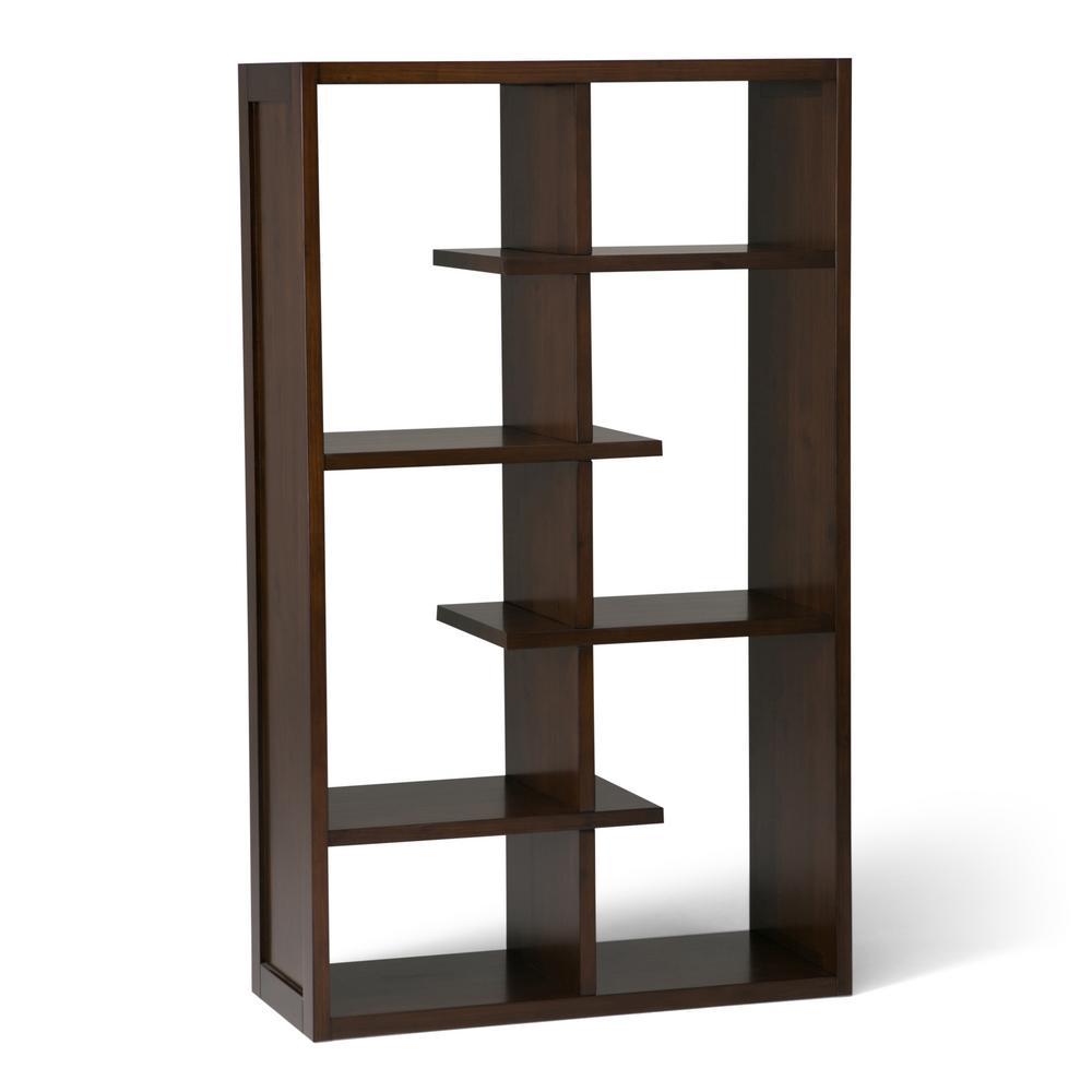 Camden Medium Auburn Brown Bookcase