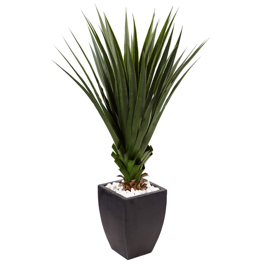 nearly natural indoor/outdoor spiked agave artificial plant in black Artificial Ornamental Plants