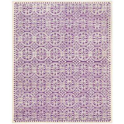 Cambridge Purple/Ivory 8 Ft. X 10 Ft. Area Rug