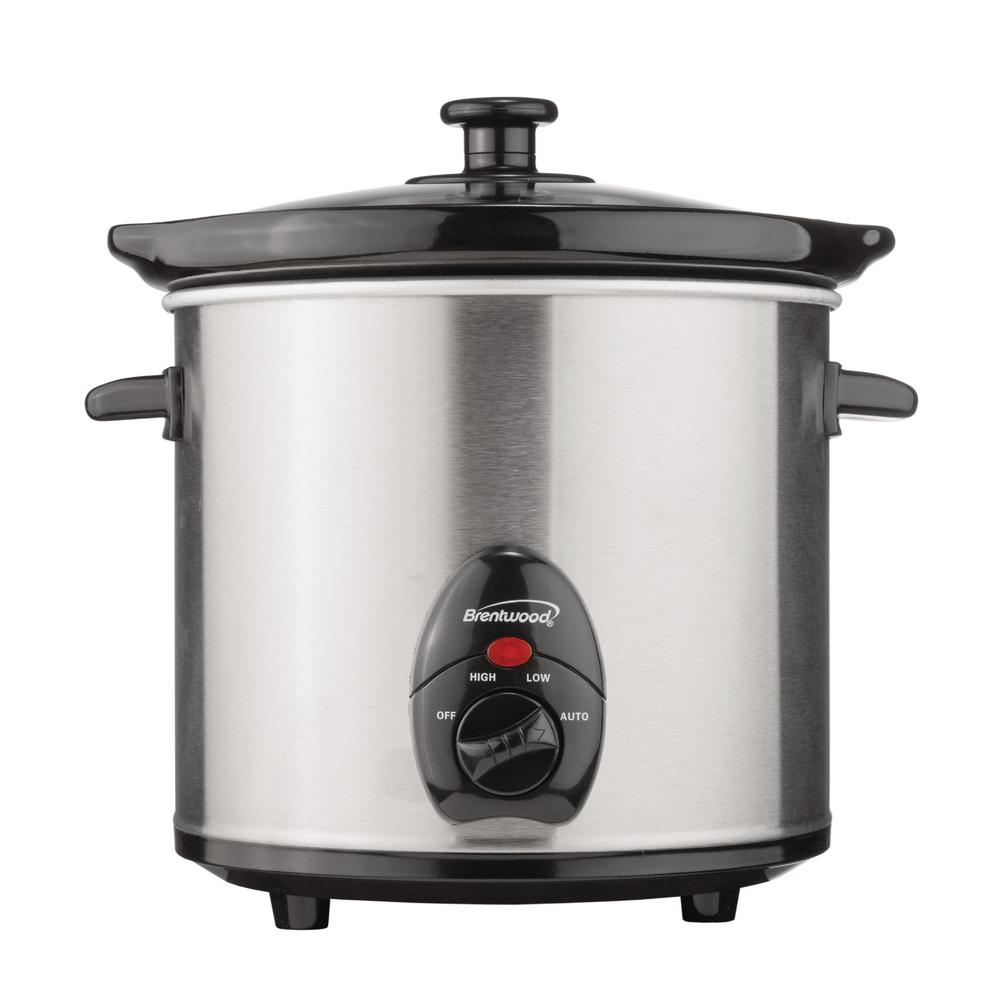 slow cooker 3 quart stainless steel cool touch handle led. Black Bedroom Furniture Sets. Home Design Ideas