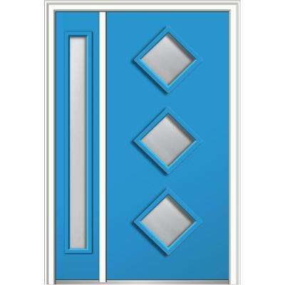 50 in. x 80 in. Clear Low-E Glass Right-Hand 3  sc 1 st  The Home Depot & Blue - Front Doors - Exterior Doors - The Home Depot
