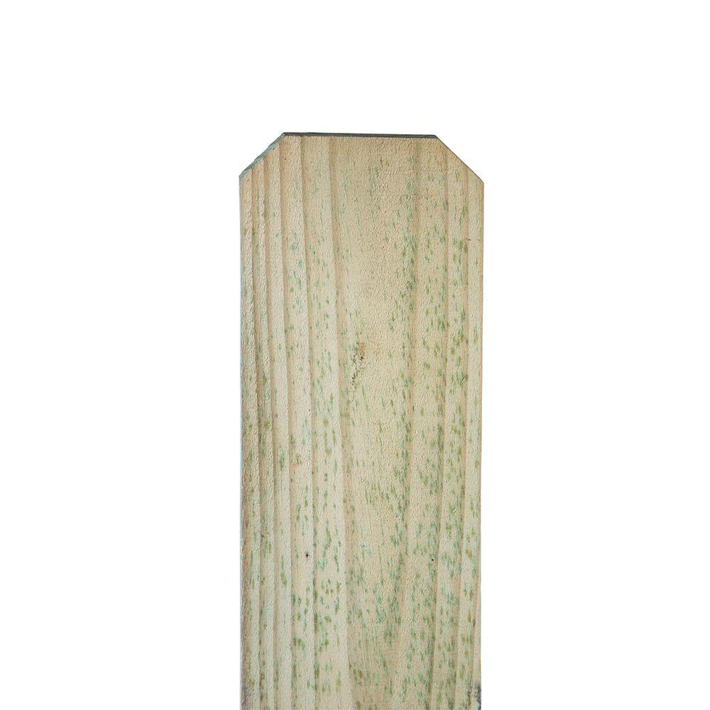 5/8 in. x 5-1/2 in. x 8 ft. Pressure-Treated Pine Dog-Ear Fence ...