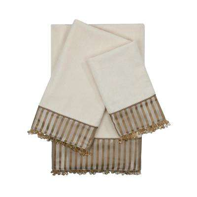 Bellevue Ecru Embellished Towel Set (3-Piece)