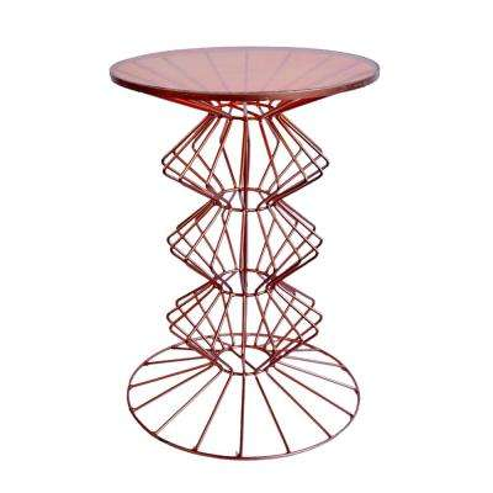 Oriane Copper Ornate Base Side Table