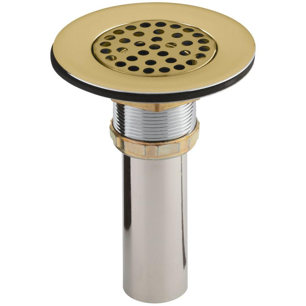 KOHLER 4-1/2 in. Brass Sink Strainer in Vibrant Polished Brass