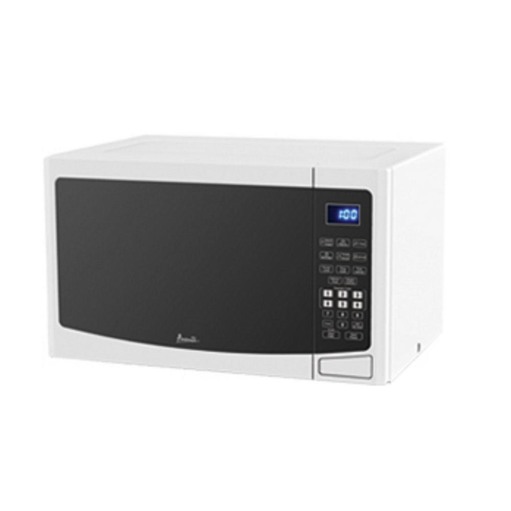 Avanti 1.2 cu. ft. Countertop Microwave in White Small but effective, the Avanti MT12V0W Microwave is perfect for dorms, offices, and smaller kitchens. It comes with an easy to use touch pad featuring convenient cooking controls and several predetermined food settings. This model packs a punch with 1000 watts of cooking power and also features weighted defrost and cooking complete reminder alerts. Color: White.