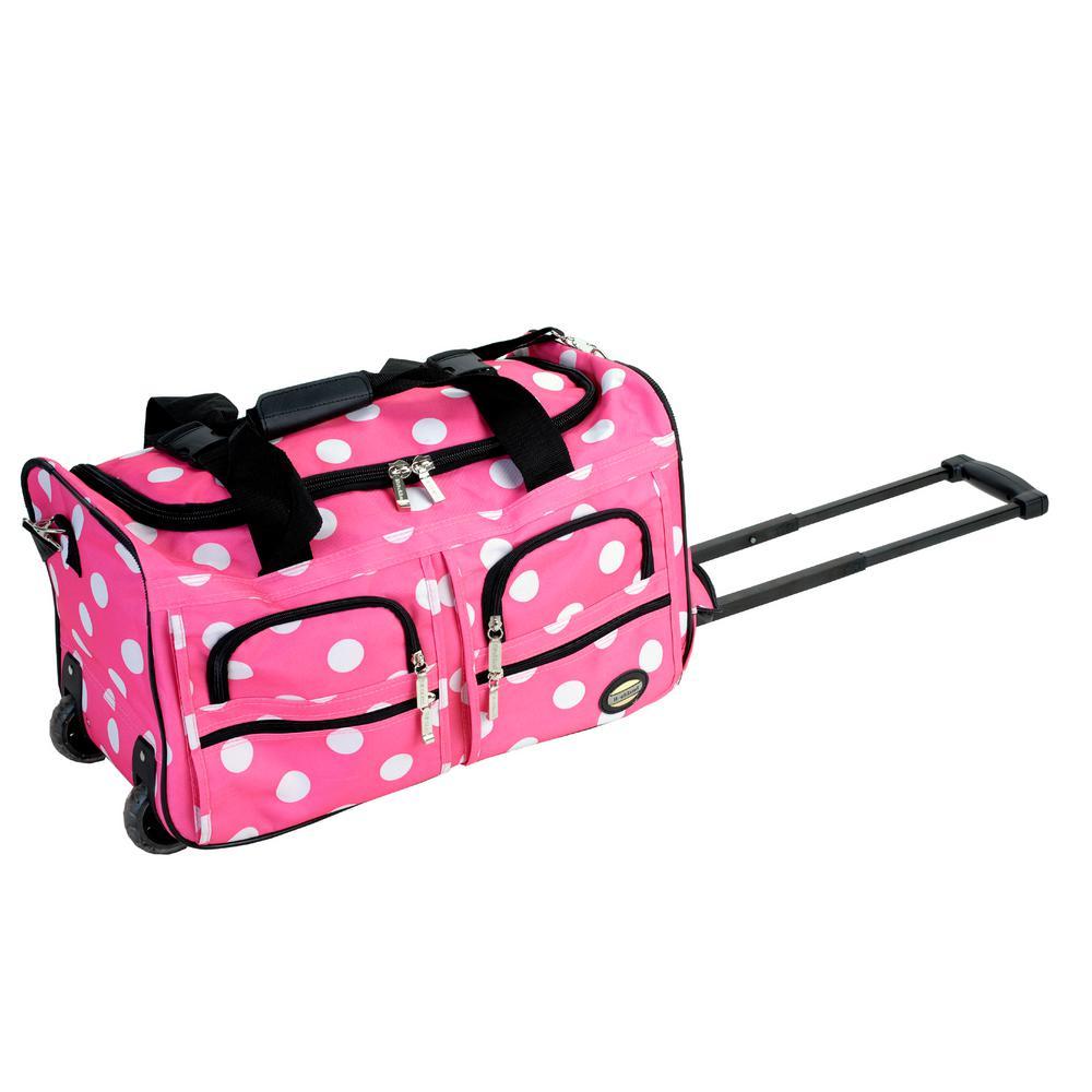 Rockland Voyage 22 in. Rolling Duffle Bag, Pinkdot