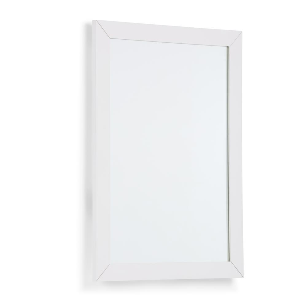 Simpli Home Cape Cod 22 in. x 30 in. Bath Vanity Decor Mirror in Off White