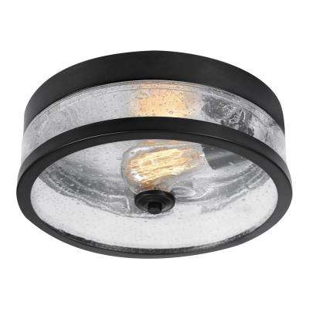 Carolina 1-Light Dark Bronze Flushmount Light