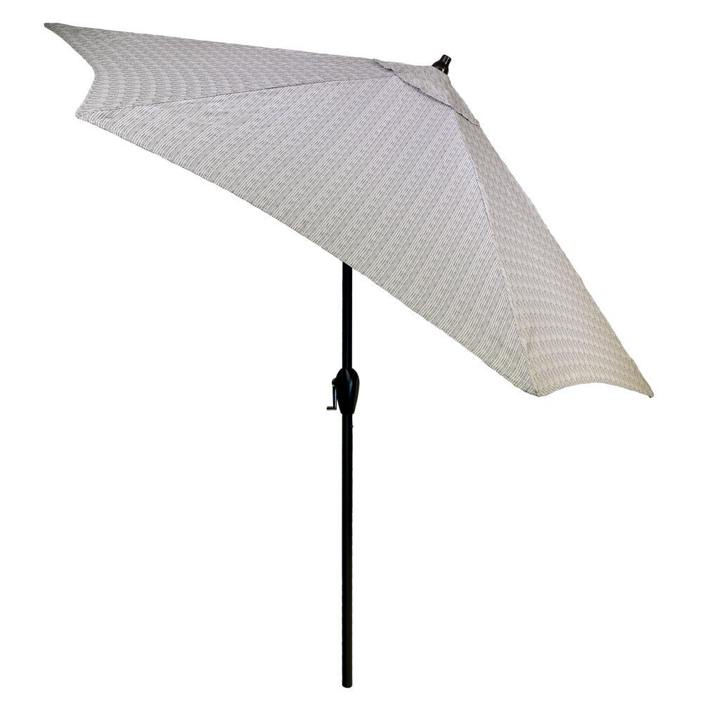 9 ft. Aluminum Patio Umbrella in Cement Texture with Tilt