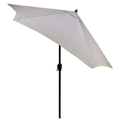 9 ft. Aluminum Patio Umbrella in Cement Texture with Tilt